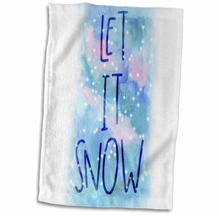 Winter Snow Decorations (3dRose Let it Snow Winter Decorations - Towel, 15 by)