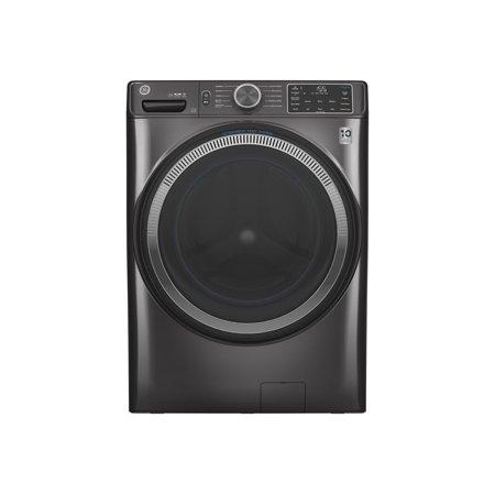 GE GFW550SPNDG - Washing machine - freestanding - Wi-Fi - width: 28 in - depth: 32 in - height: 39.8 in - front loading - 4.8 cu. ft - 1300 rpm - diamond gray