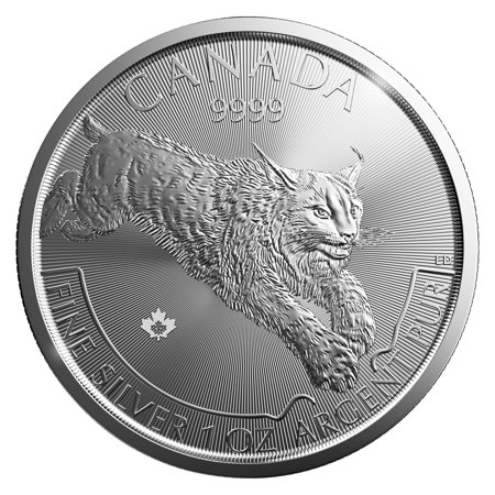 2017 Royal Canadian Mint Lynx 1 oz Silver Coin - Predator Series