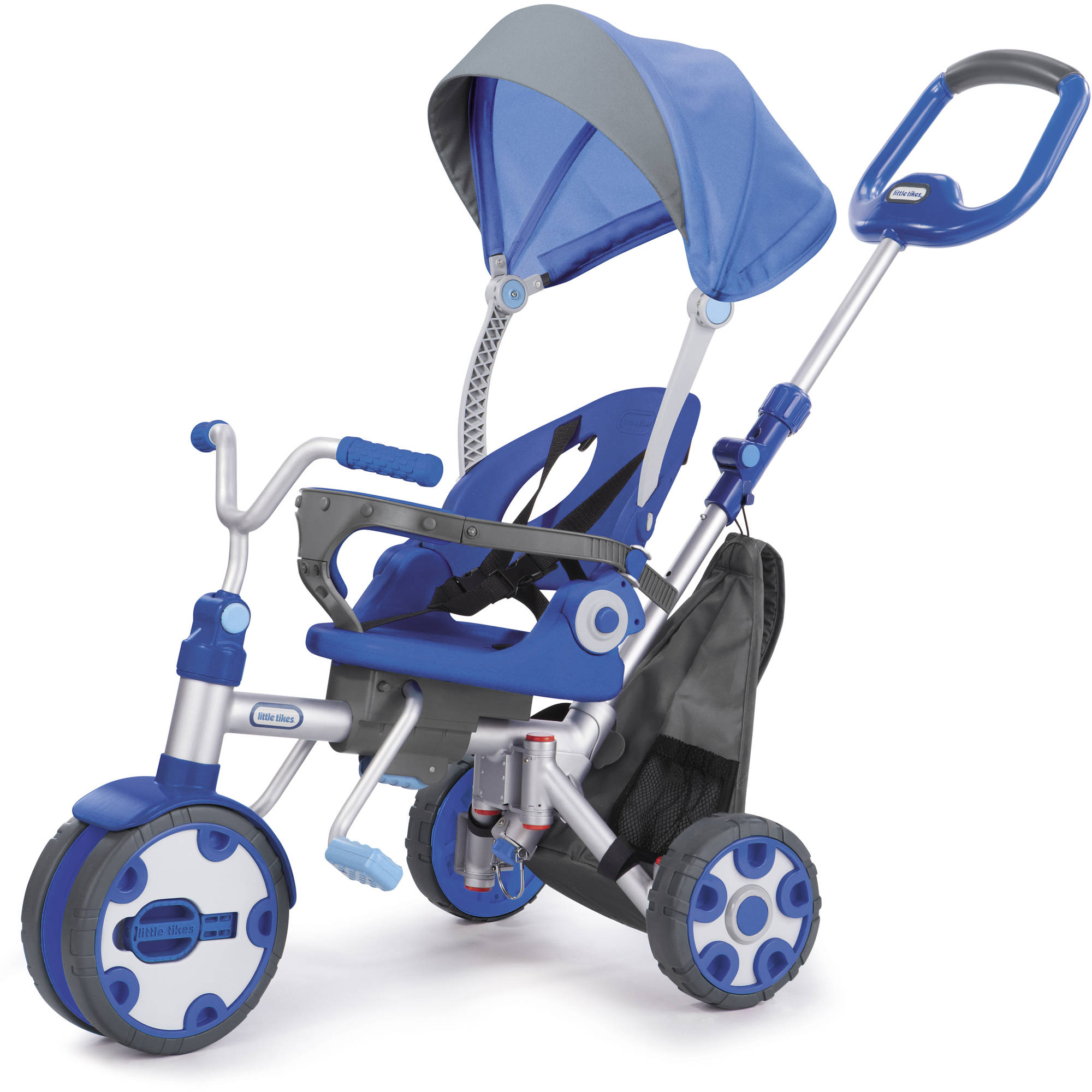 Little Tikes Fold 'n Go 4-in-1 Trike, Blue Grey by Little Tikes