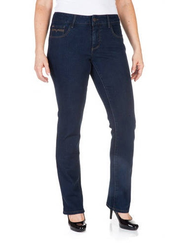 Faded Glory Women/'s Cool Comfort Pull-on Straight Jeans
