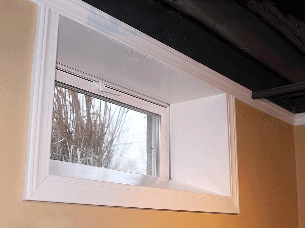 32 X 14 Vinyl Basement Hopper Window, 32 X 12 Basement Window