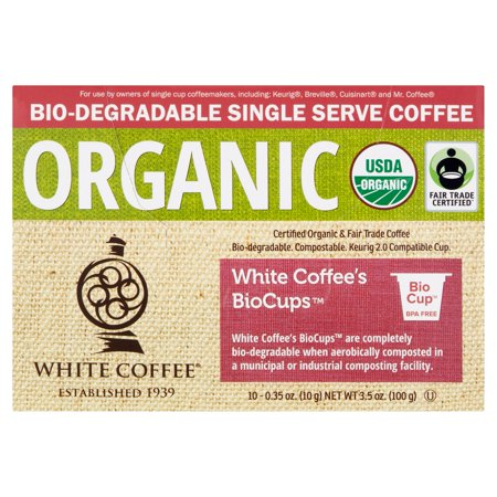 White Coffee Fair Trade Organic Tip of the Andes (Pack of