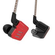 KZ IEM Earphone Balanced Armature Headphone HD Sound in Ear Monitor HiFi Stereo Noise Cancelling Earbuds BA10 5BA with Metal