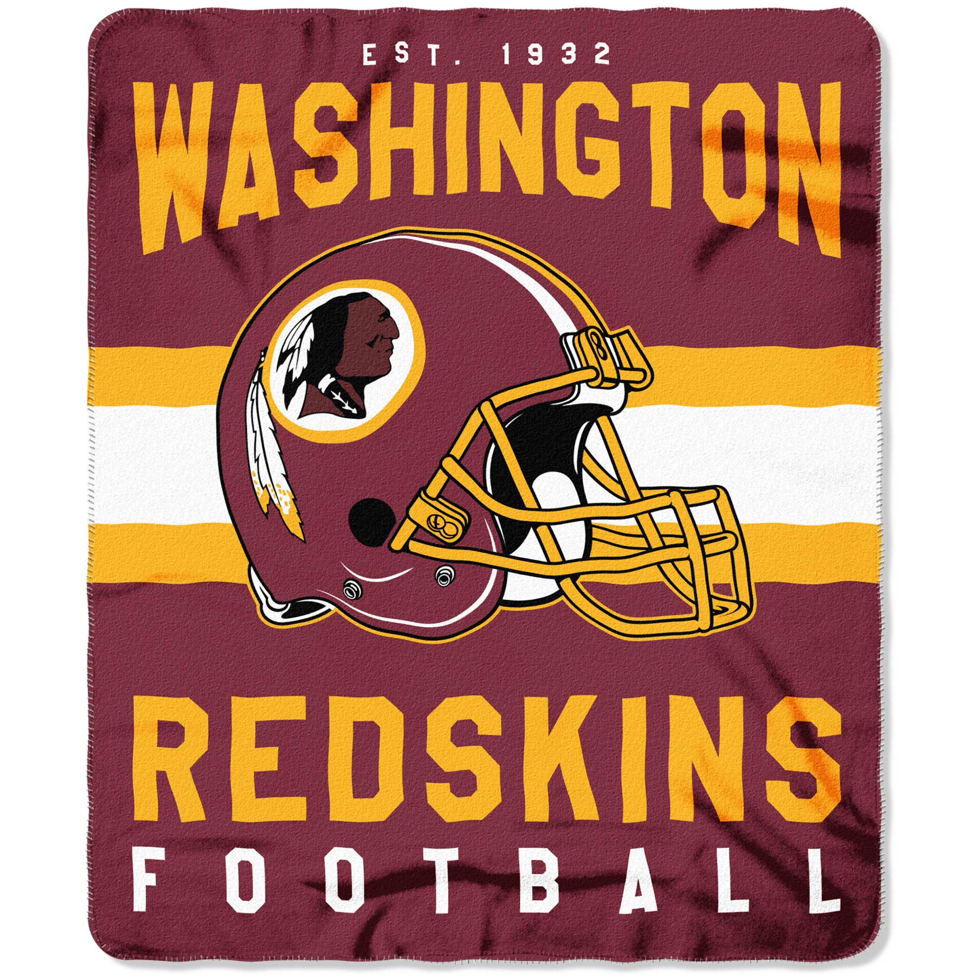 "NFL Washington Redskins ""Singular"" 50"" x 60"" Fleece Throw"
