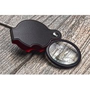 "SE MF2054B 5x Folding Pocket Magnifier with 1-1/2"" Glass Lens Diameter"