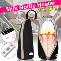 Outdoor Portable 55℃/131F Adjustable Temperature USB Milk Water Warmer Insulated Bag Baby Nursing Bottle Heater for Baby Outdoor Travel