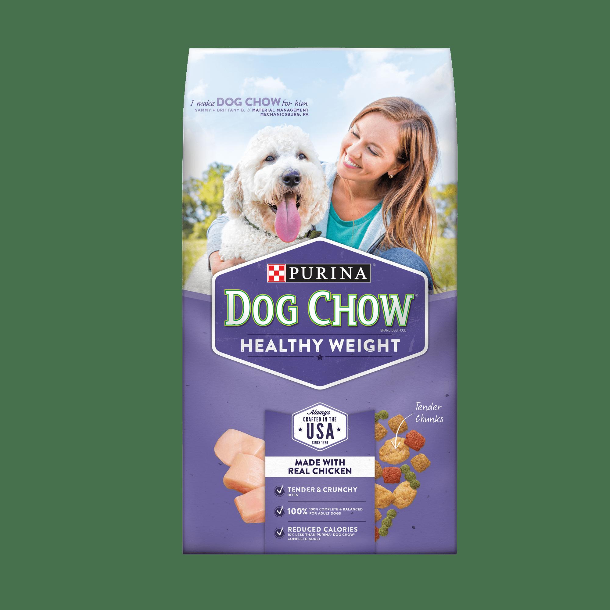 Purina Dog Chow Healthy Weight Adult Dry Dog Food - 4 lb. Bag