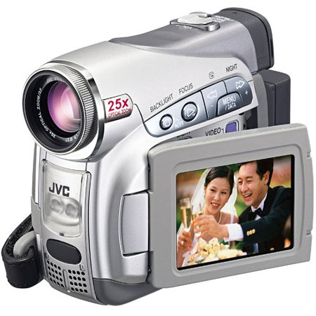 refurbished jvc gr d270 minidv camcorder w 25x optical zoom silver walmart