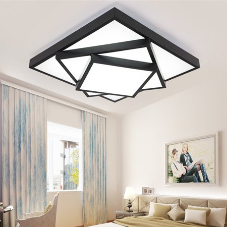 Meigar Modern Style LED Square Stack Ceiling Lights Square Pendant Living Room Fixture