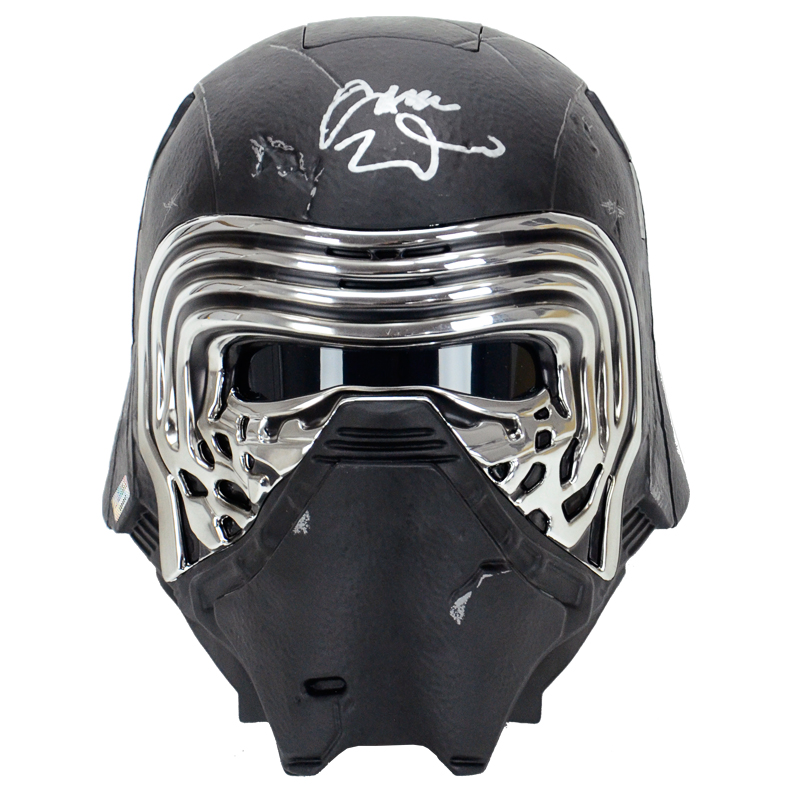 Adam Driver Autographed Star Wars: The Force Awakens Kylo Ren Black Series Helmet