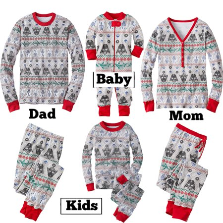 Star Wars Onesie Adults (Christmas Family Matching Pajamas Set Adult Star Wars Sleepwear Nightwear)