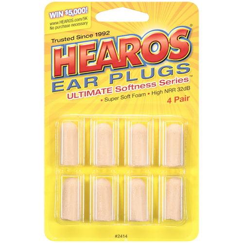 DAP World Hearos Ultimate Softness Series Ear Plugs, 4 ea