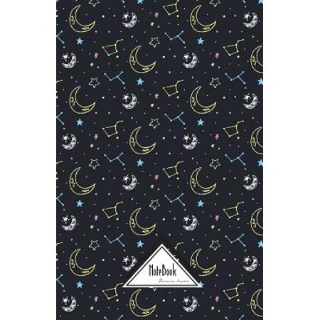 Notebook Journal Bullet Dotted Grid, Graph Line : Moon Star Constellation Pattern: Journal to Write In, Small Pocket Notebook Journal Diary, 120 Pages, 5.5 X -