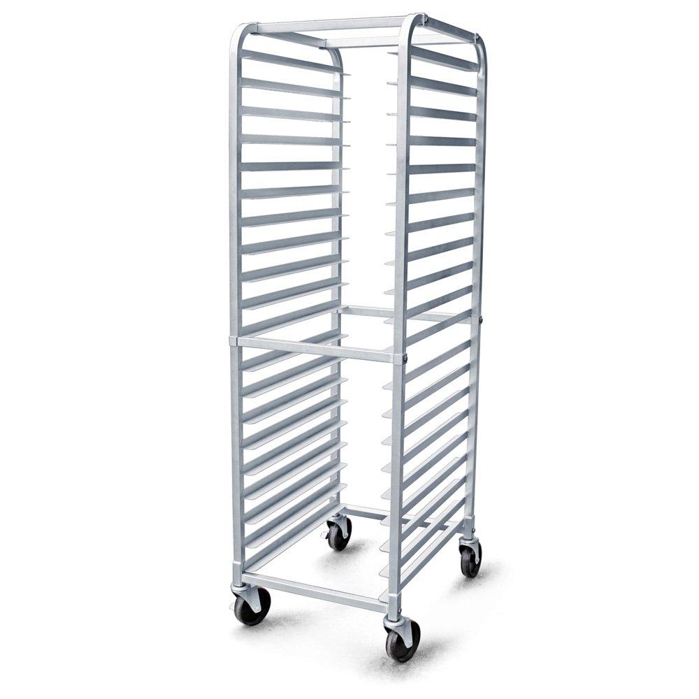 New Star 36527 Aluminum 20 Tier Commercial Kitchen Bun Pan Sheet Pan Rack 26 By 20 By 69 Inch Walmart Com Walmart Com