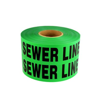 Non-Detectable Underground Tape - Caution Buried Sewer Line Below - 6 in x 1000 ft Roll 4