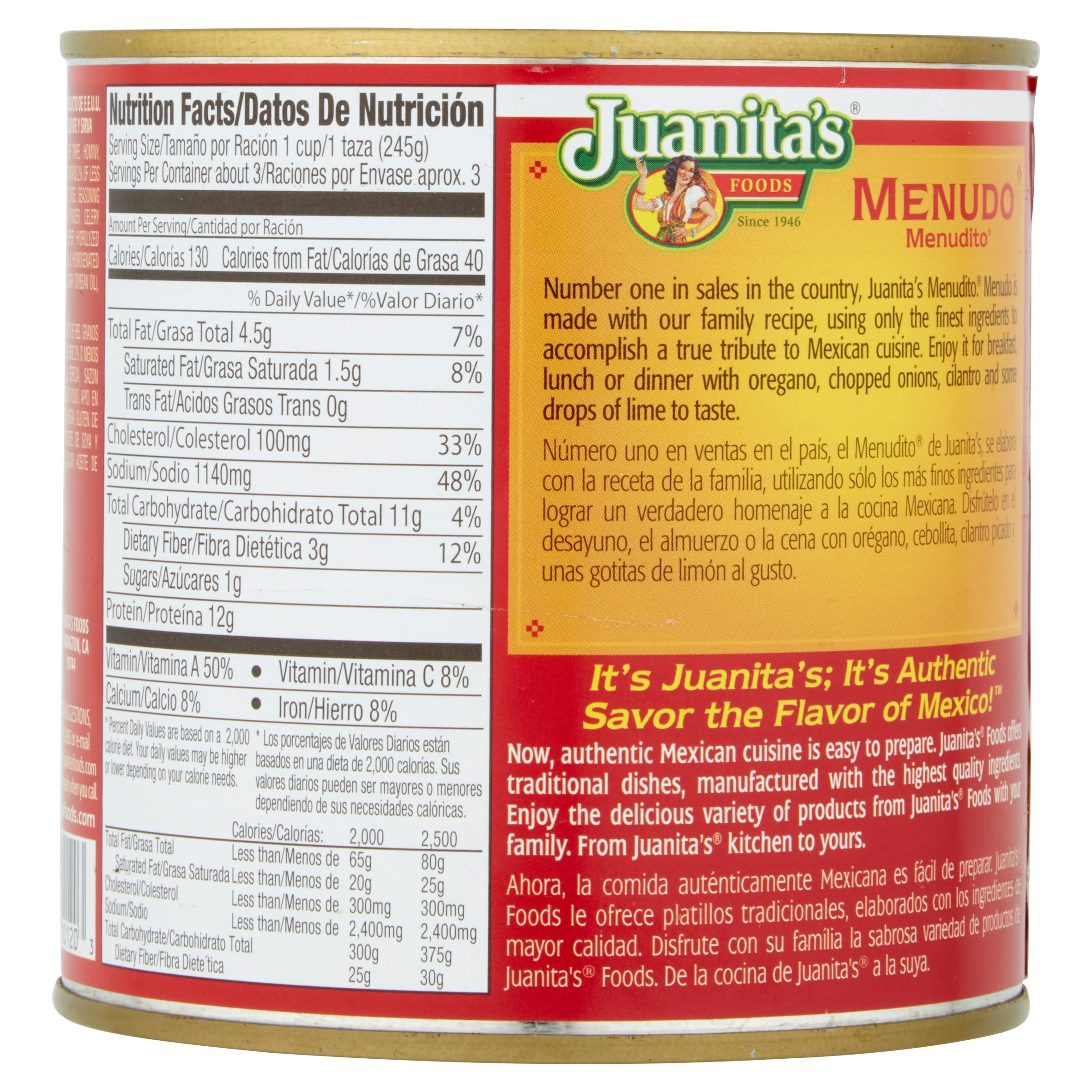 How many calories in menudo images 10