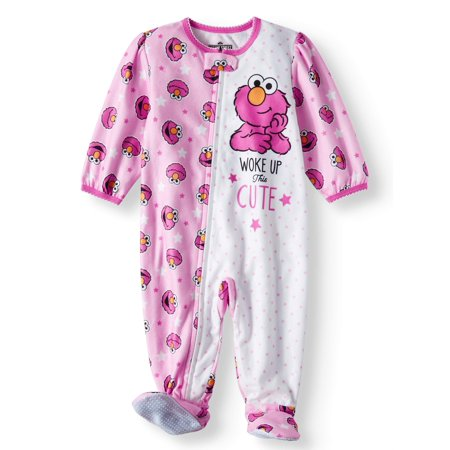 Sesame Street Microfleece Footed Blanket Sleeper (Baby Girls) for $<!---->