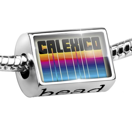 Bead Retro Cites States Countries Calexico Charm Fits All European Bracelets