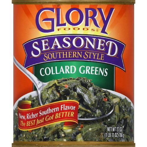 Glory Foods Collard Greens, 27 oz (Pack of 12)