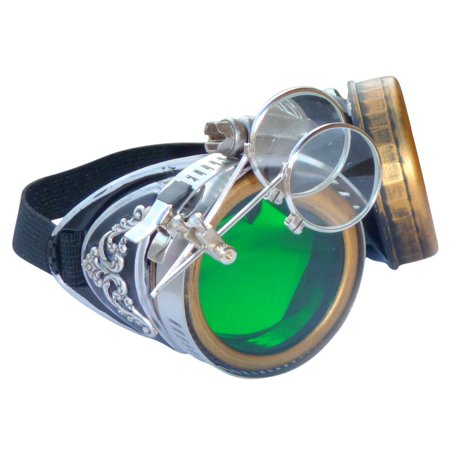 Steampunk GoggLes VicTORian Novelty Glasses cosplay Halloween costume accessory s3 by - Novelty Goggles