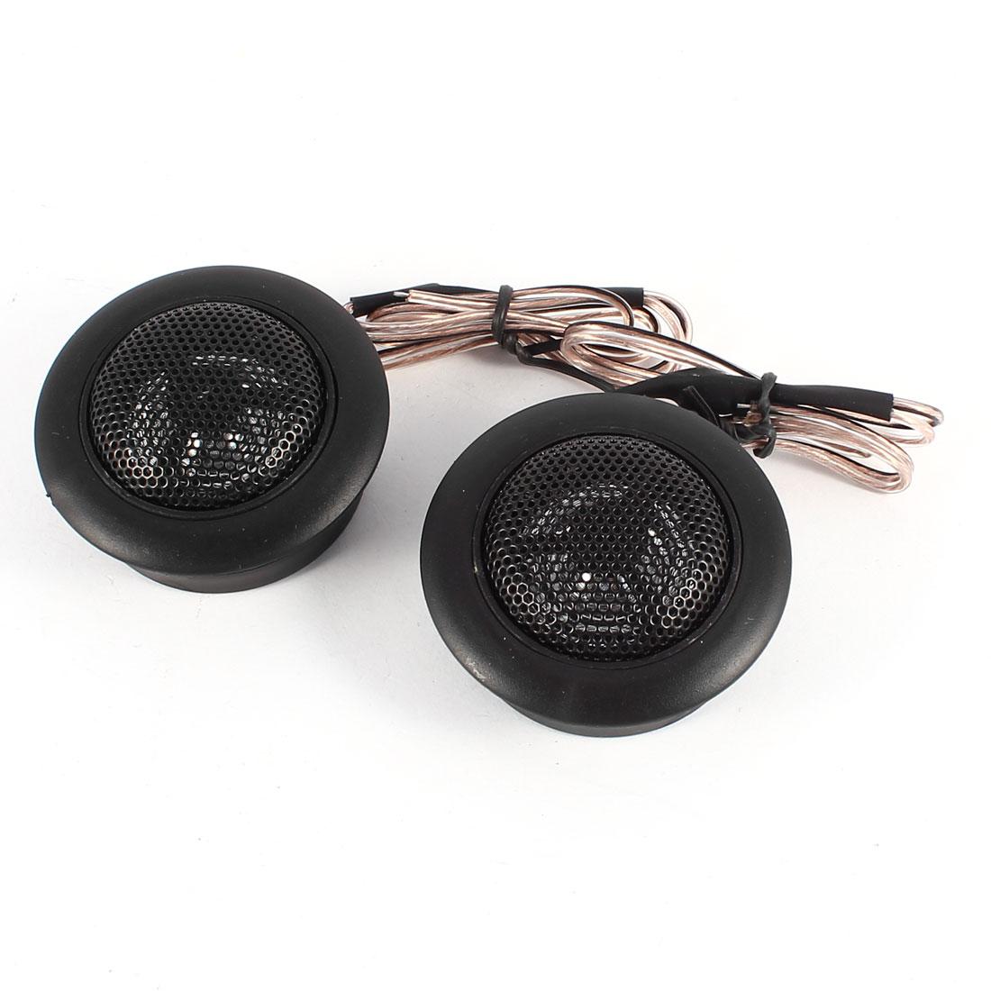 """Unique Bargains 2 Pcs 150W Flush Mount 2.2"""" Dia Dome Tweeters Speakers Black for Car"""