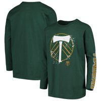 Portland Timbers Youth Deconstructed Long Sleeve T-Shirt - Green