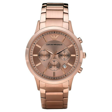 Chronograph Rose Wrist Watch (Emporio Armani Classic Men's Chronograph Rose Gold-Tone S. Steel Watch)