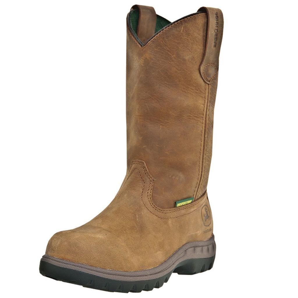 John Deere Work Boots Womens Wellington Waterproof Poplar JD3204