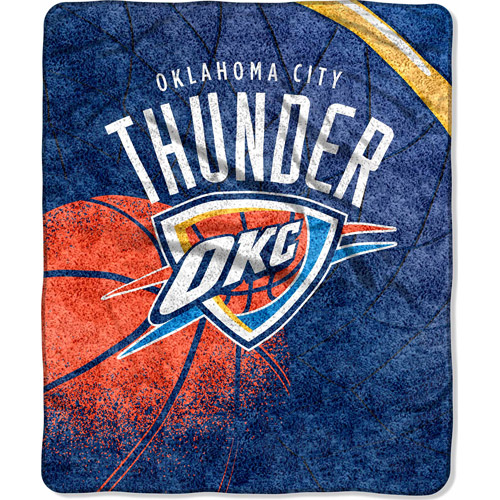 "NBA Reflect 50"" x 60"" Sherpa Throw, Thunder"