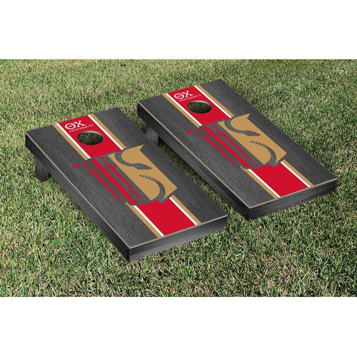 Victory Tailgate Theta Chi Stained Cornhole Game Set
