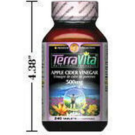 Apple Cider Vinegar - 500 mg (240 tablets, ZIN: 406578