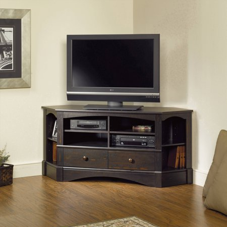 Sauder Harbor View Corner Entertainment Credenza for TVs up to 42″ in Multiple Finishes