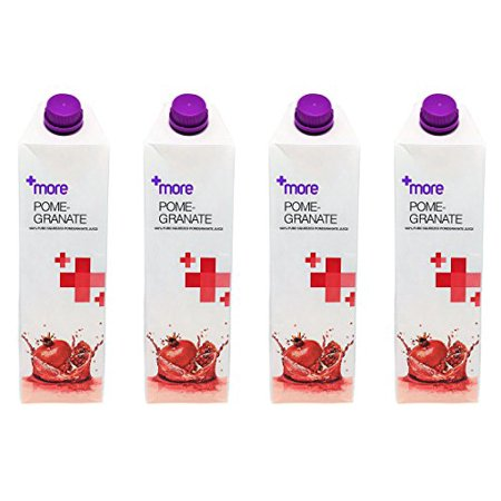 100% Pure Squeezed Pomegranate Juice - Pack of 4 - Tetra Pak Carton Bottles - No Artificial Colors, Flavors, Preservatives