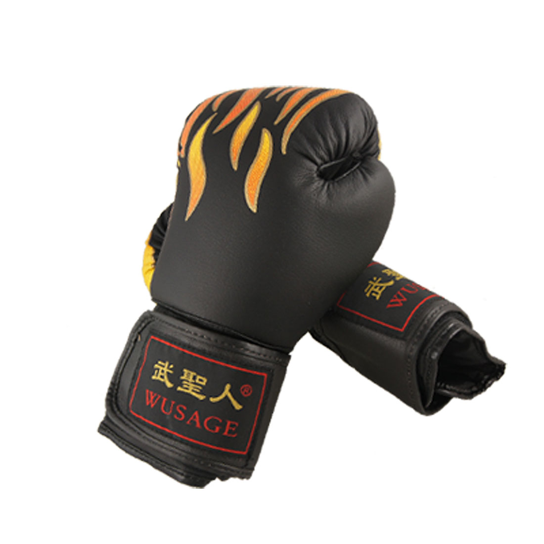 Breathable Flame Pattern Adult Training Boxing Gloves