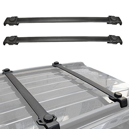 Black Easy to Install Roof Rack Cross Bar System For Jeep Patriot 2007-2016 Jeep Bike Racks
