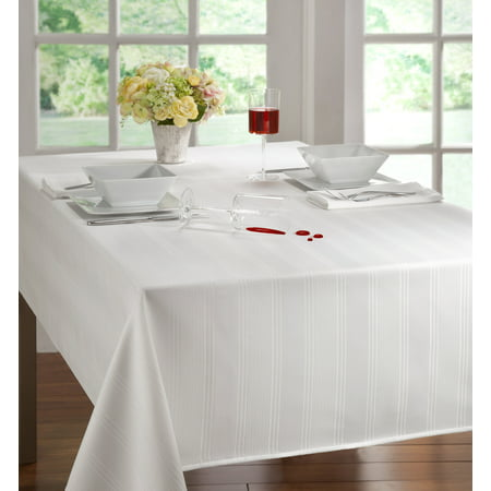 Arlee Solid Color Microfiber Tablecloth 60