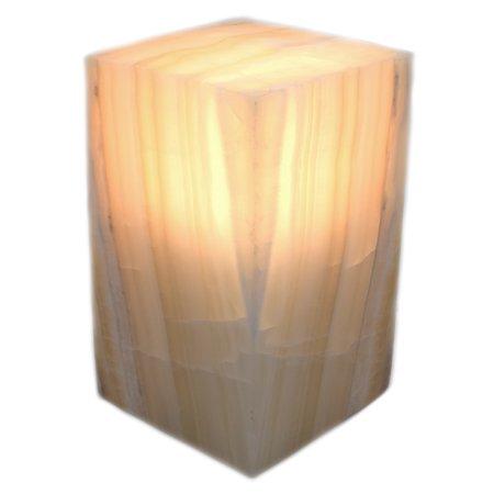 - Soft Amber Onyx Aragonite Prism Lamp, 8