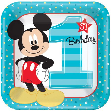 Mickey Mouse First Birthday Party Supplies 24 Pack Lunch Plates