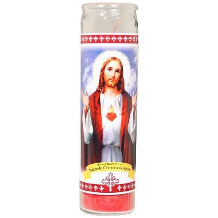 Star Candle 8-Inch Candle Sacred Heart of Jesus](Star Wars Candles)
