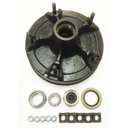 New 12 x 2 UTG mobile home trailer brake drum kit for 7K UTG utility wheel axle - (Best New Brakes)