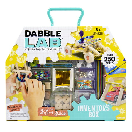 Dabble Lab Inventor's Box, Over 250 Pieces for Inventions, S.T.E.A.M. Activity Kit , 8+