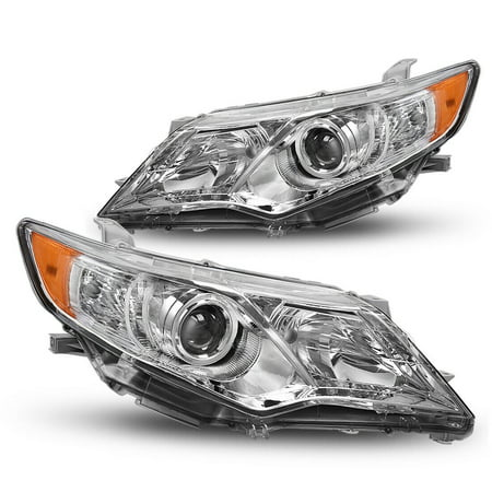 for 2012 2013 2014 Toyota Camry Crystal Clear Projector Headlights Headlamps Pair