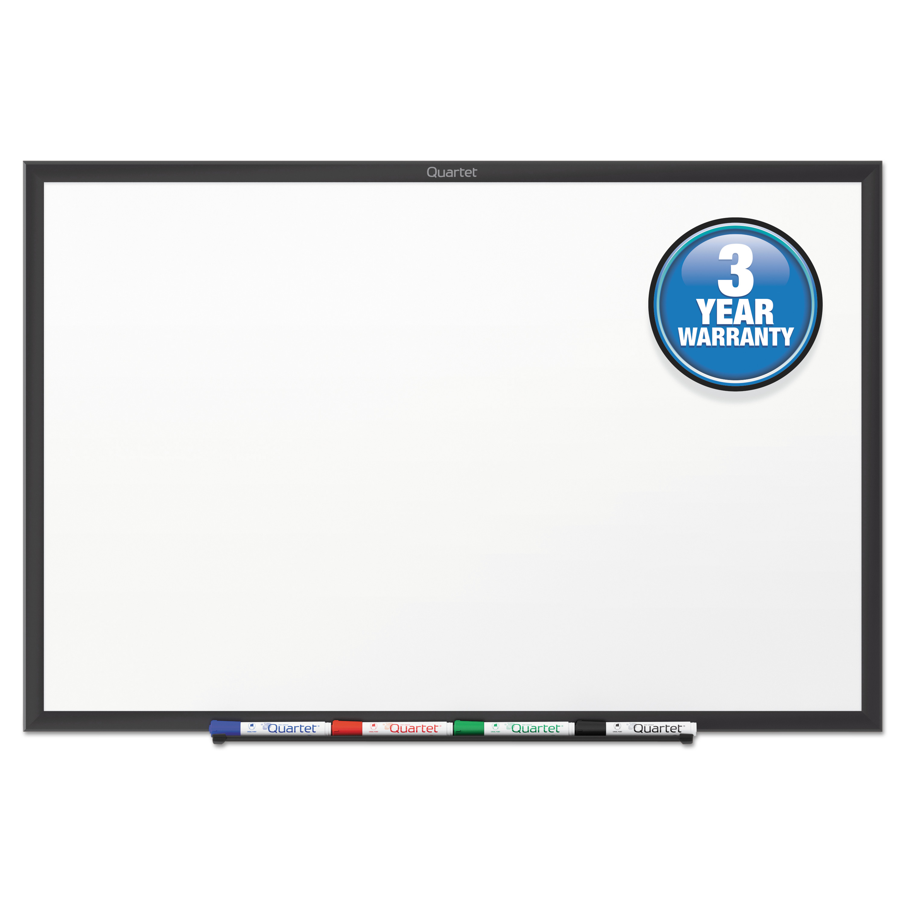 Quartet Classic Series Total Erase Dry Erase Board, 60 x 36, White Surface, Black Frame -QRTS535B