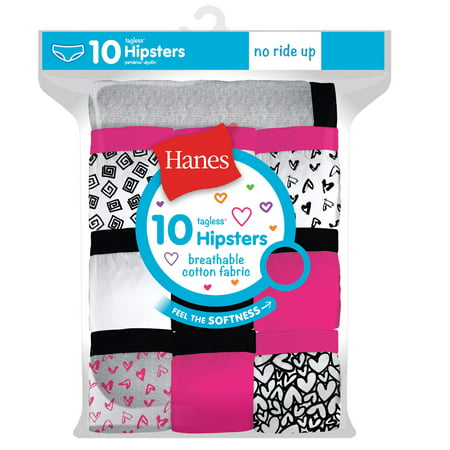 Hanes Girls Tagless Hipsters, 10 Pack, 14](Hipster Girl Halloween)