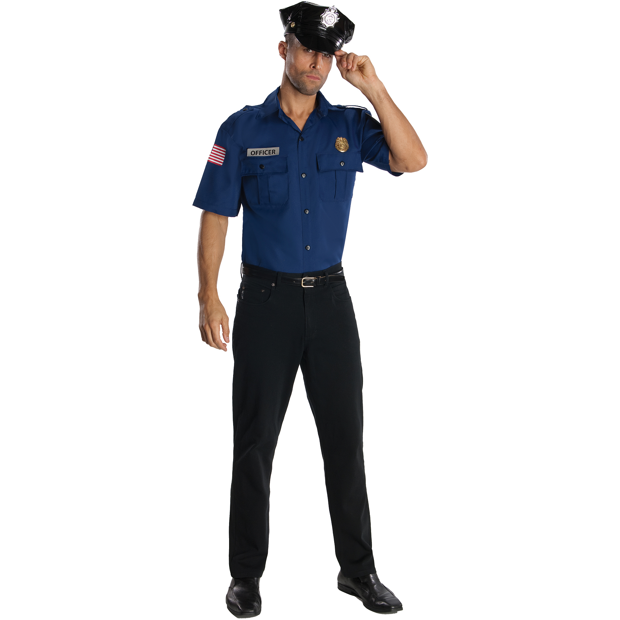 Police Officer Mens Halloween Costume - Walmart.com