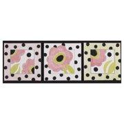 Cotton Tale 3 Piece Poppy Canvas Art Set