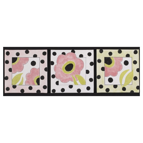 Cotton Tale 3 Piece Poppy Canvas Art Set