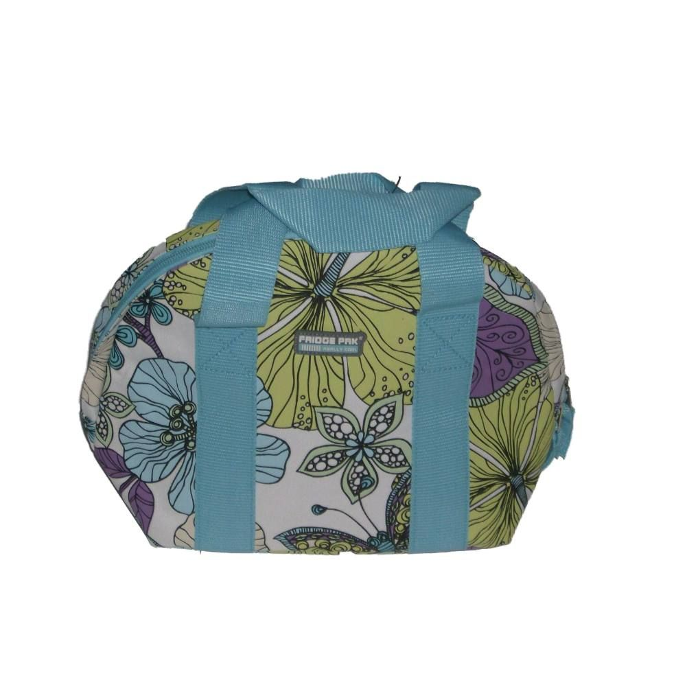 Fridge Pak Fully Insulated Cooler Tote Lunch Box Blue Floral Lunch Bag Lunchbox - Walmart.com
