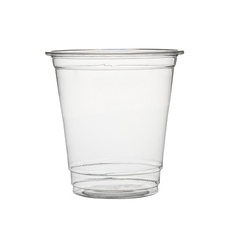 Foods Crystal Clear Plastic Cup - Plastible Plastic Disposable Cups with Lids - Premium 8 oz. Crystal Clear Cups for Cold Drinks Coffee Tea Juices Smoothies Soda Cocktails Beer (Pack of 100 Cups)